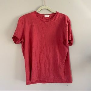 J Crew Red Broken In Cotton T-Shirt
